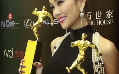 International Recording Artist, Kay Tse, Wears Stephan Caras at 14th/15th Chinese Music Media Awards!