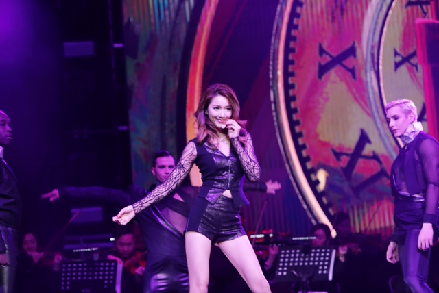 "Leanne Li ""Lights Up"" the Stage in Beijing Wearing Stephan Caras!"